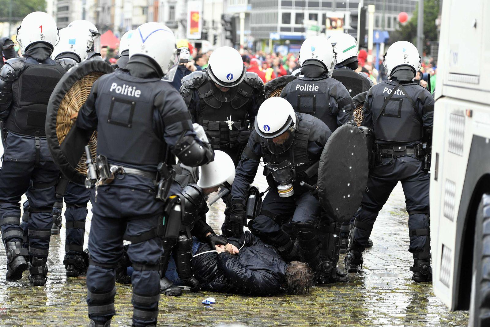 Belgien / Brussels / Proteste