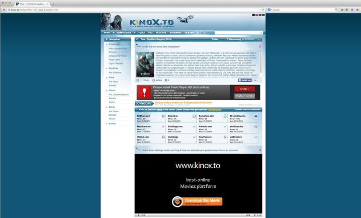 Plattform Kinox.to: Links zu illegalen Filmkopien