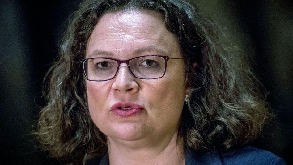 Ex-SPD-Chefin Andrea Nahles (Archiv)