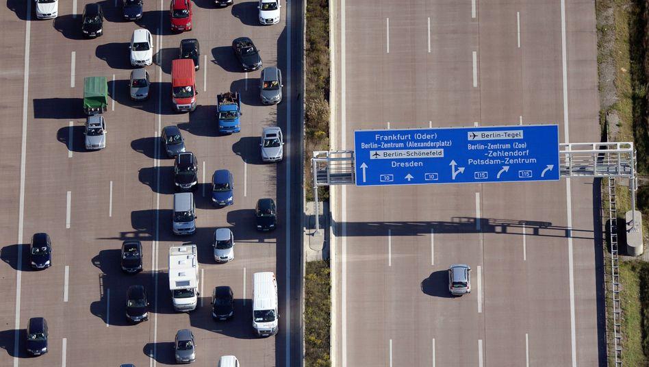 Autobahn in Brandenburg