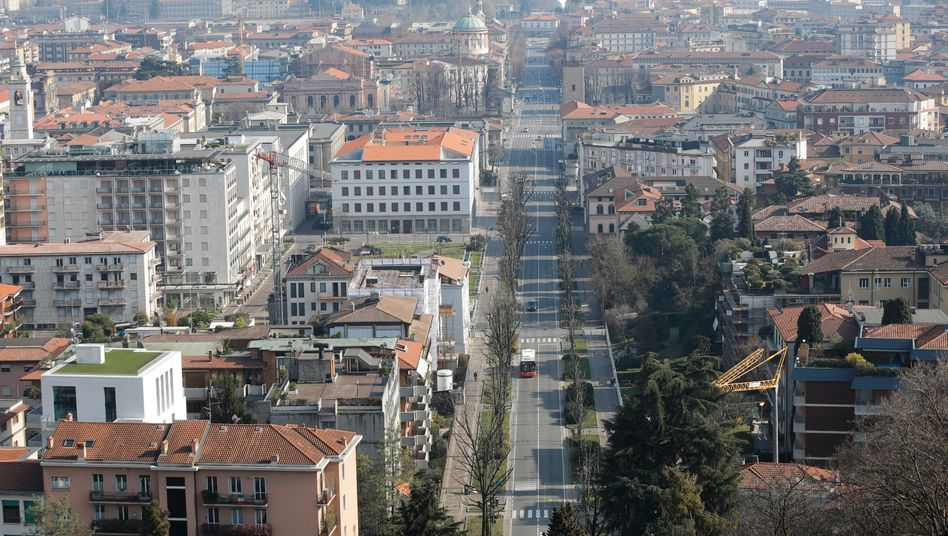 Bergamo, Italy, is on the brink of the abyss, its mayor warns.
