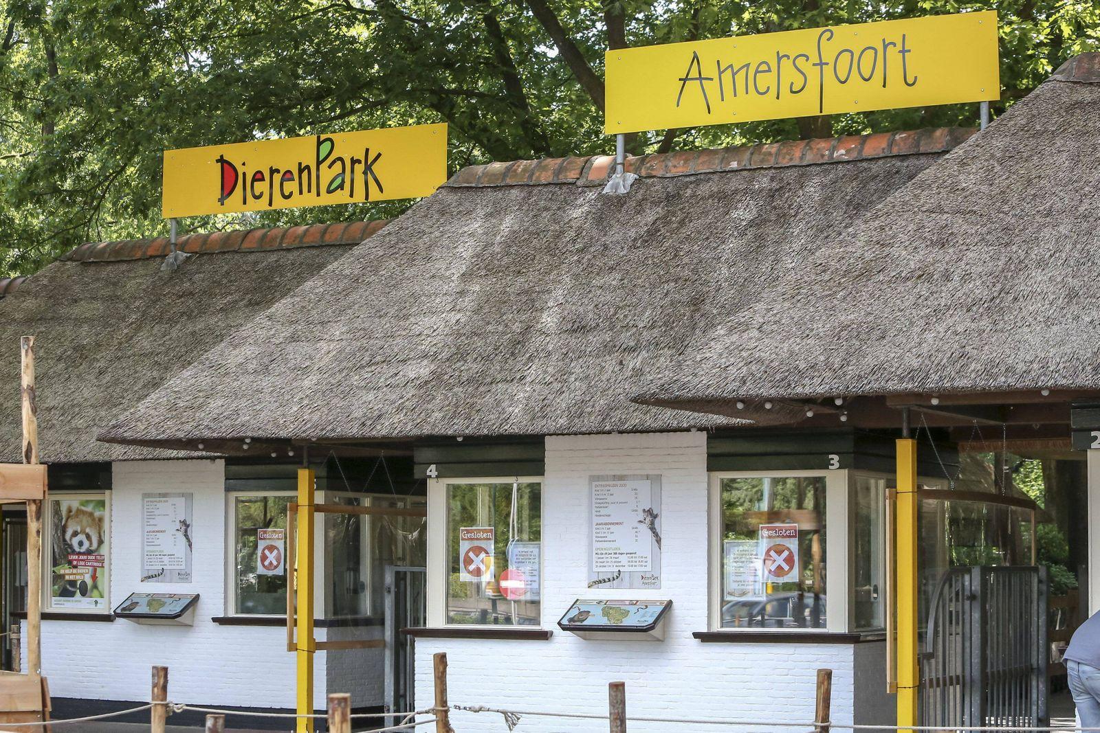 AMERSFOORT, 25-06-2020 ,Dierenpark Amersfoort Dutchnews, entrance of Amersfoort zoo ingang dierenpark Amersfoort ice cre