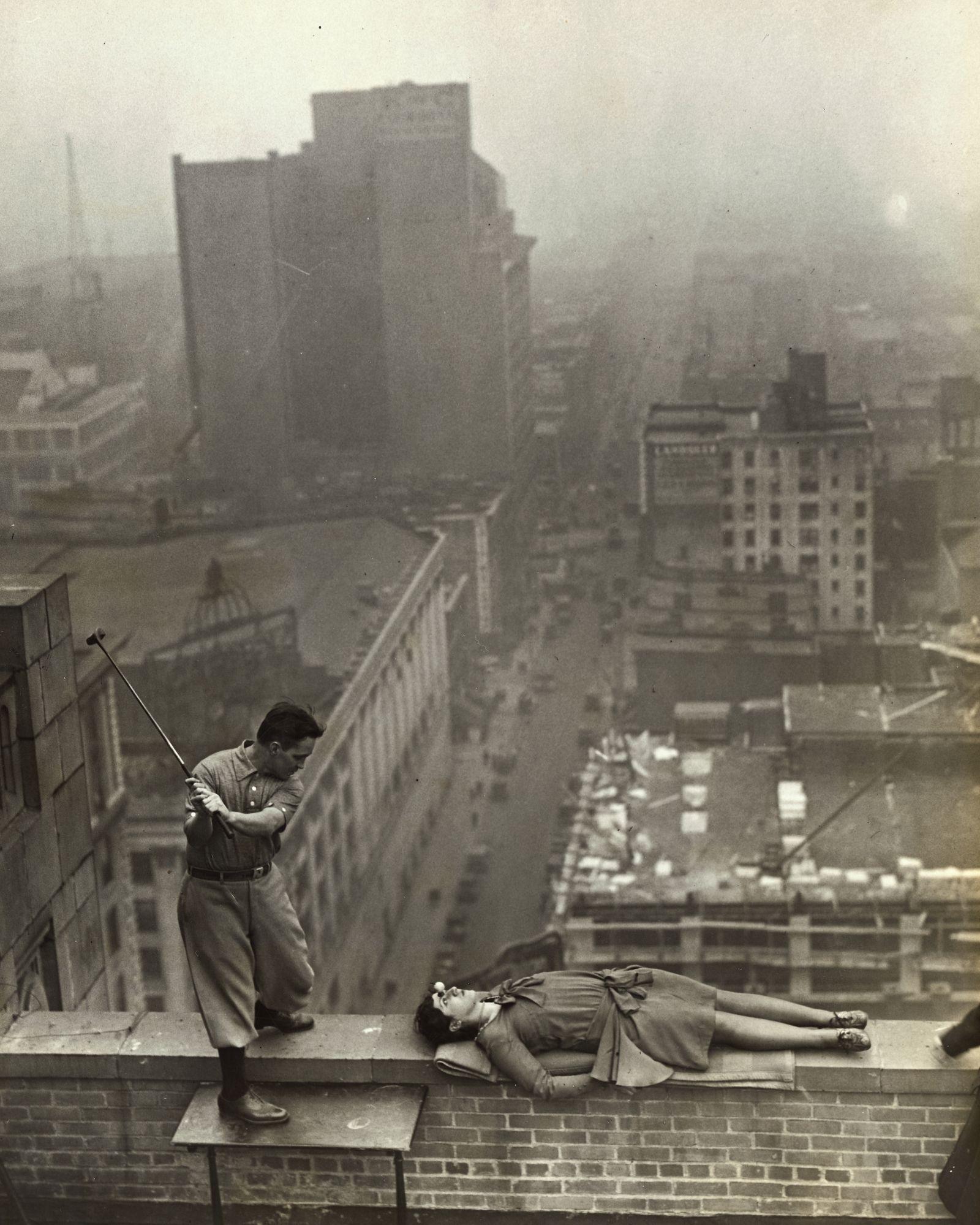 Jack Redmond on Roof Teeing Off