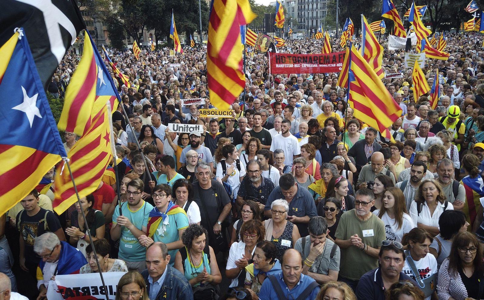 Kundgebung von Separatisten in Barcelona