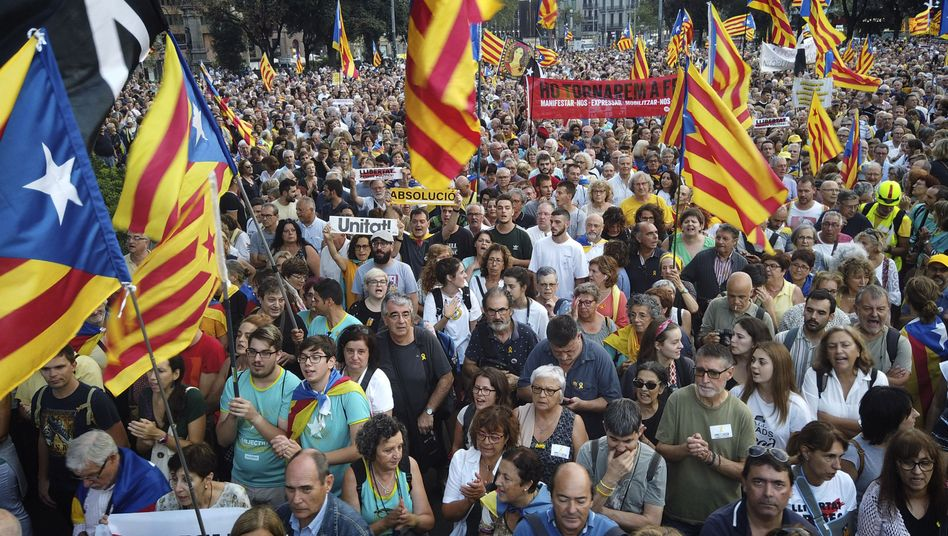 Kundgebung katalonischer Separatisten
