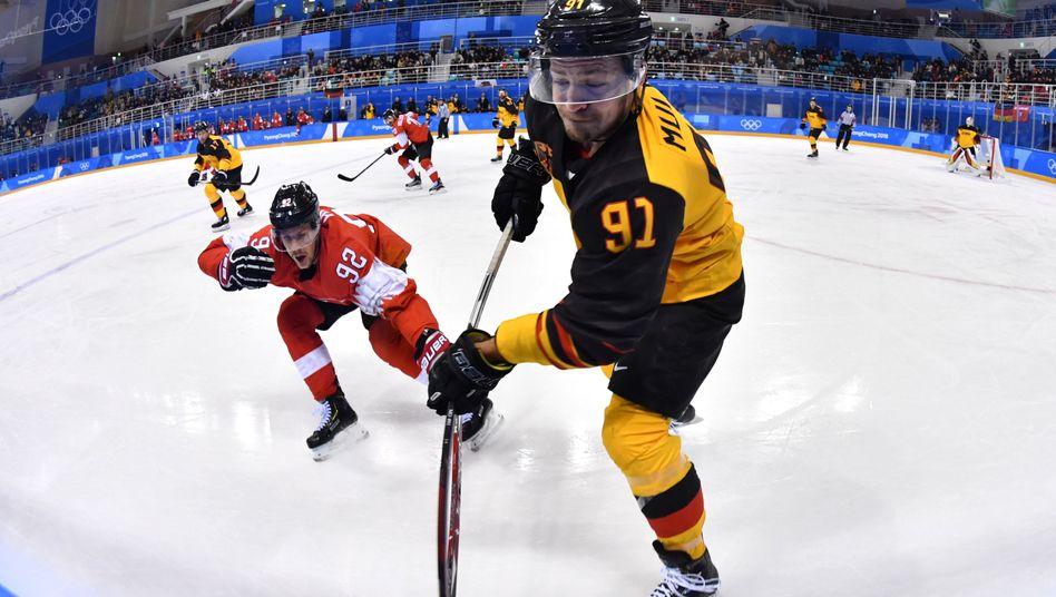 Moritz Müller in Aktion bei den Winterspielen von Pyeongchang