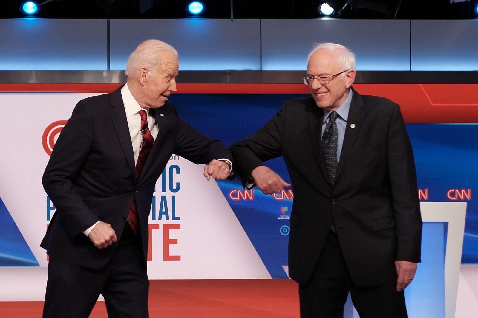 Bernie Sanders und Joe Biden