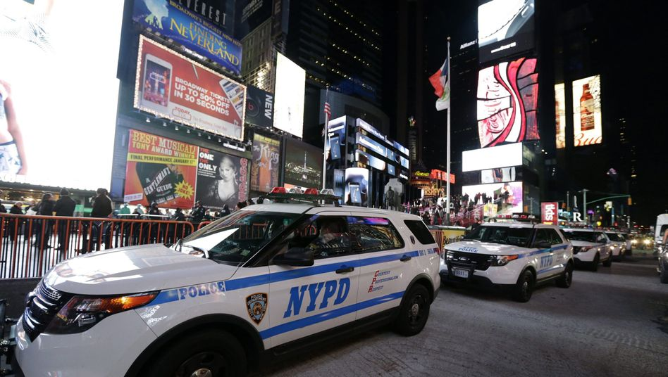 Polizei am Times Square in New York