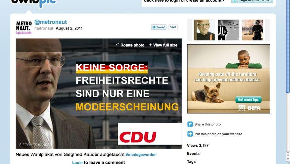 Nachgemachtes CDU-Plakat: Freiheitsrechte sind nur eine Modeerscheinung?