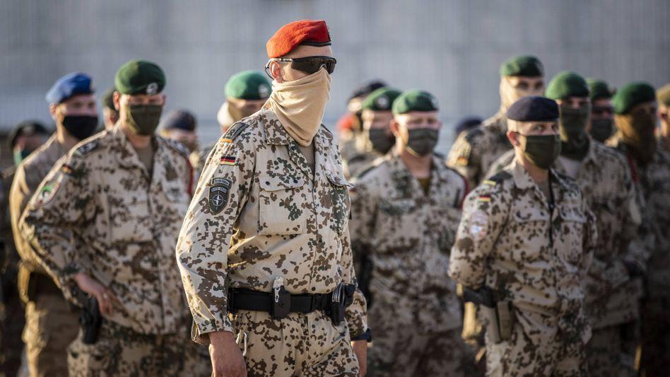 Bundeswehrsoldaten im Camp Marmal in Masar-i-Scharif (Ende April 2021)