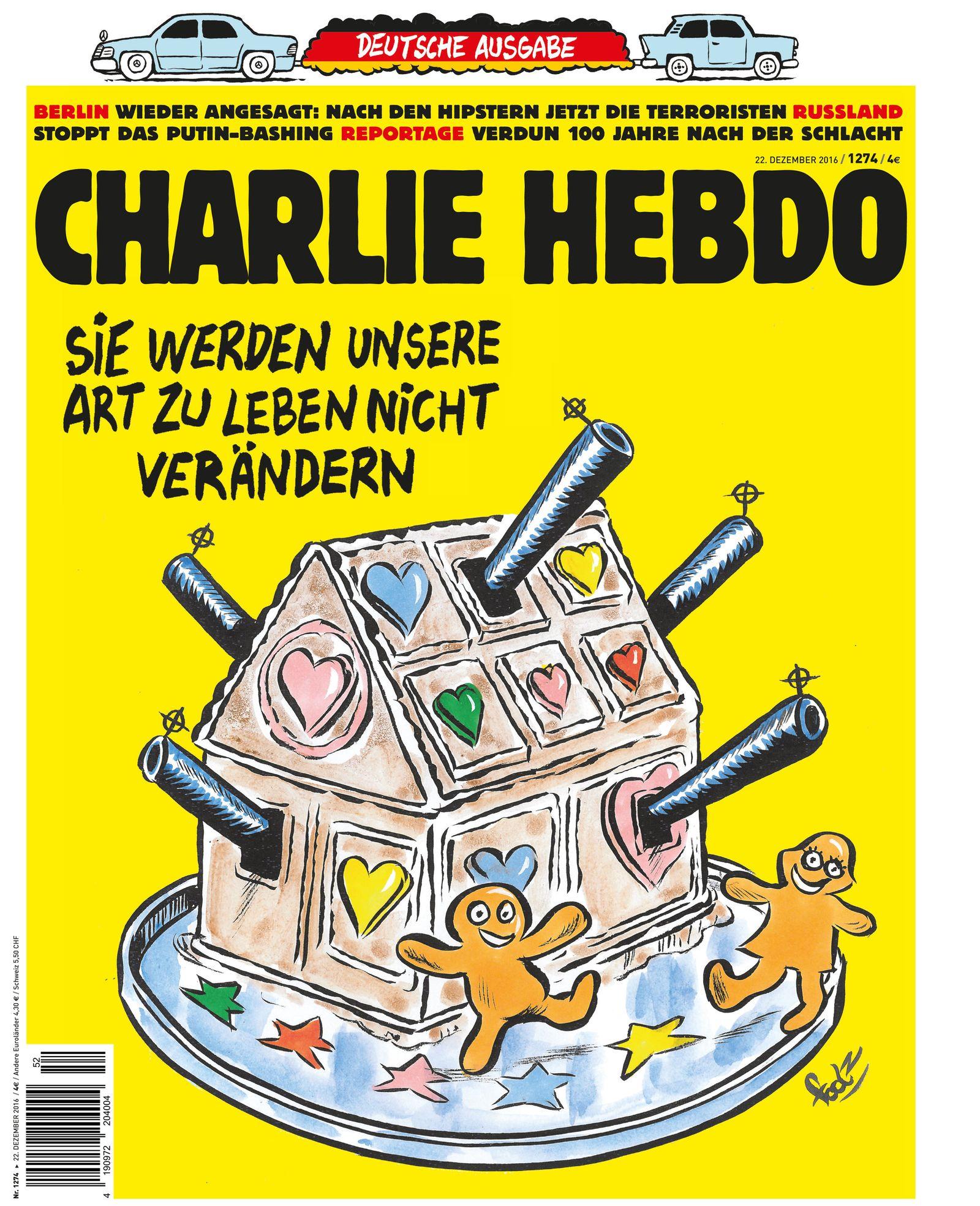 «Charlie Hebdo» macht mit Berliner Terroranschlag auf