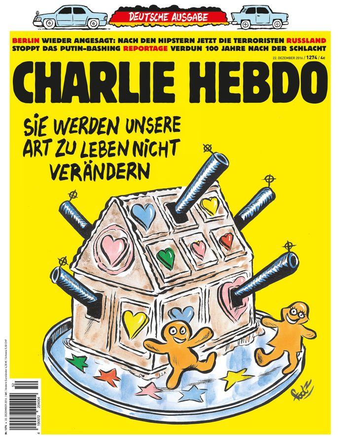 Titelbild der deutschen Ausgabe des Satiremagazins Charlie Hebdo