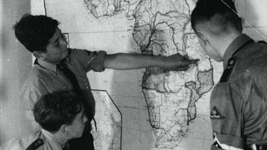 Propaganda: Mitglieder der Hitlerjugend warben zu Beginn der NS-Herrschaft für Kolonien in Afrika