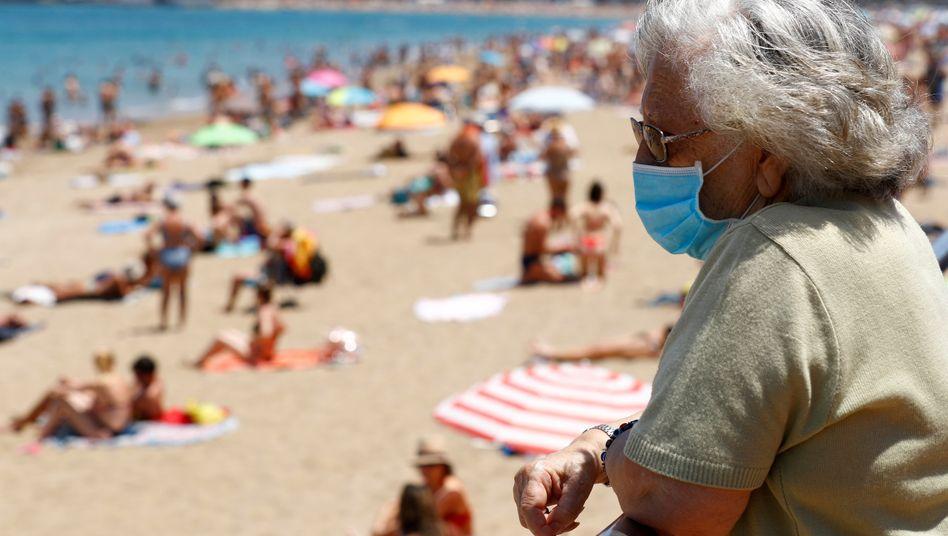 Gran Canaria: Maske tragen am Strand