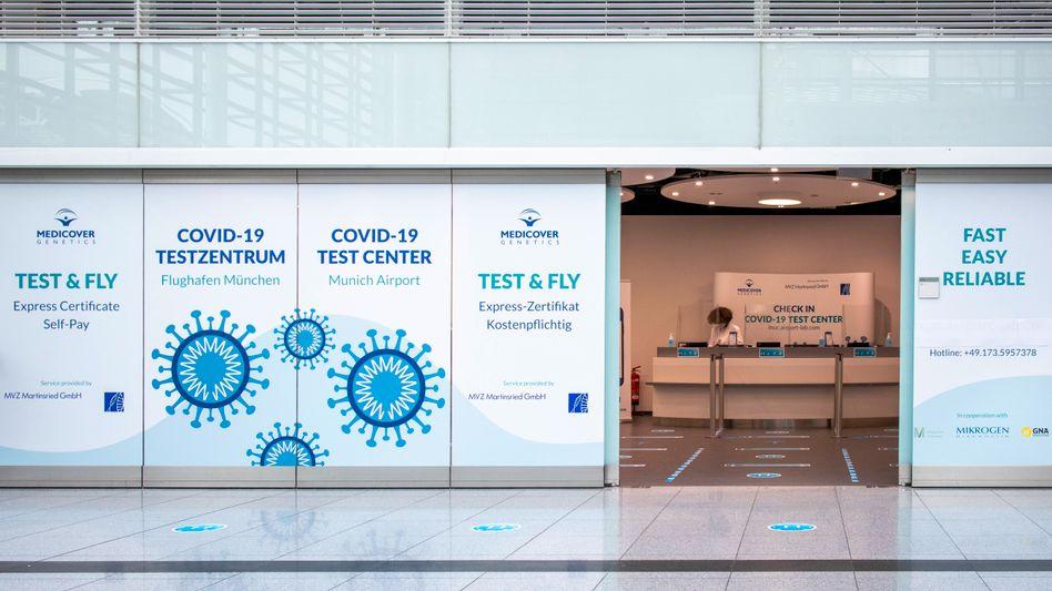 Privates Corona-Testzentrum am Flughafen München