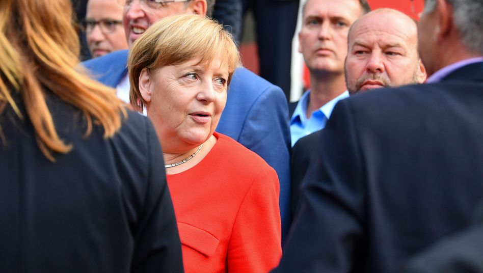 Angela Merkel in Heidelberg