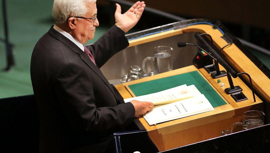 """Palästinenserpräsident Abbas: """"Eine Investition in den Frieden"""""""