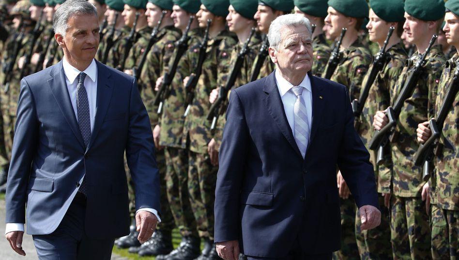 """Staatspräsidenten Burkhalter, Gauck: """"Chancen der Offenheit und Vielfalt versuchen zu nutzen"""""""