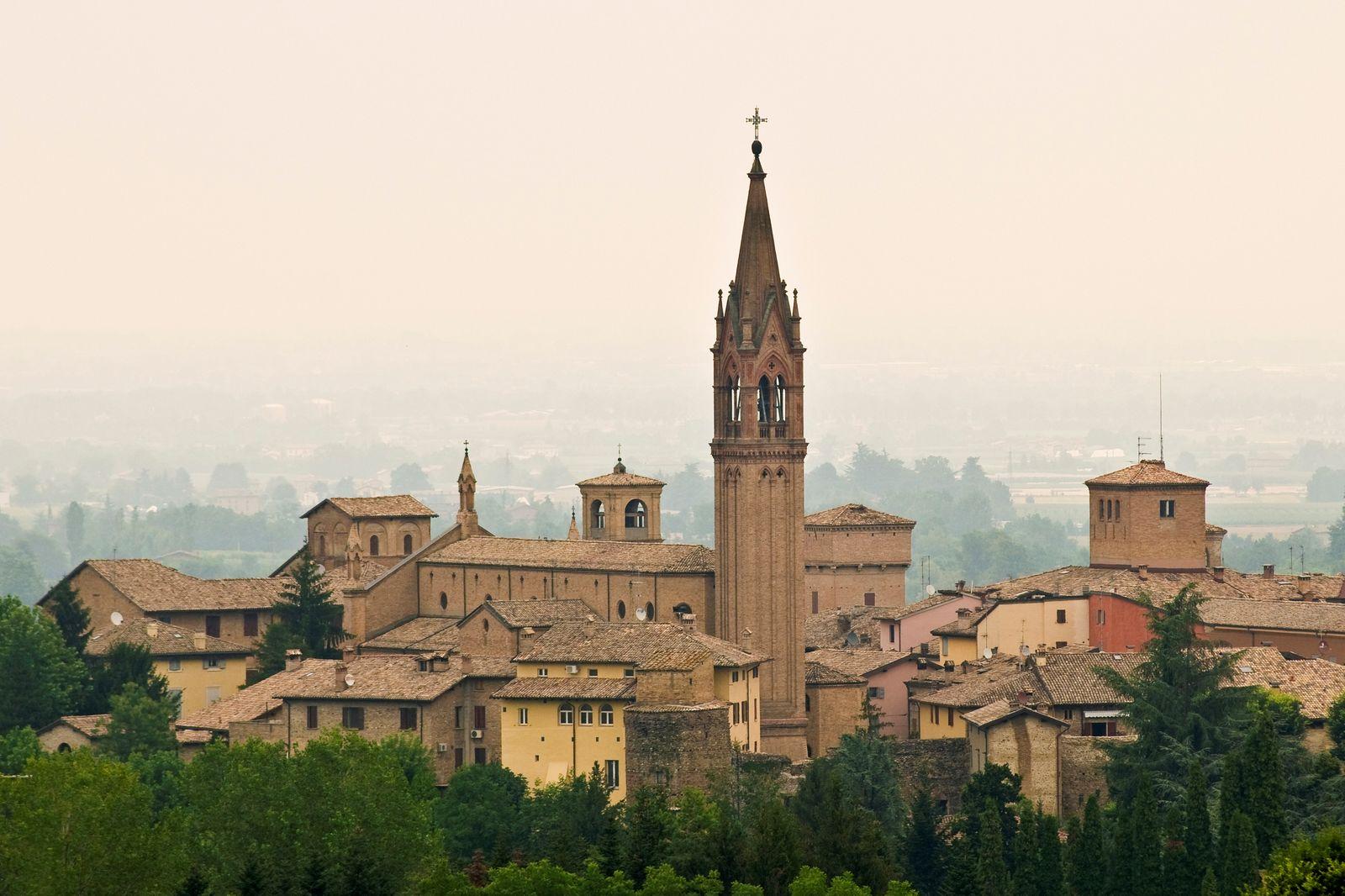 View of Castelvetro di Modena. Emilia Romagna. Italy