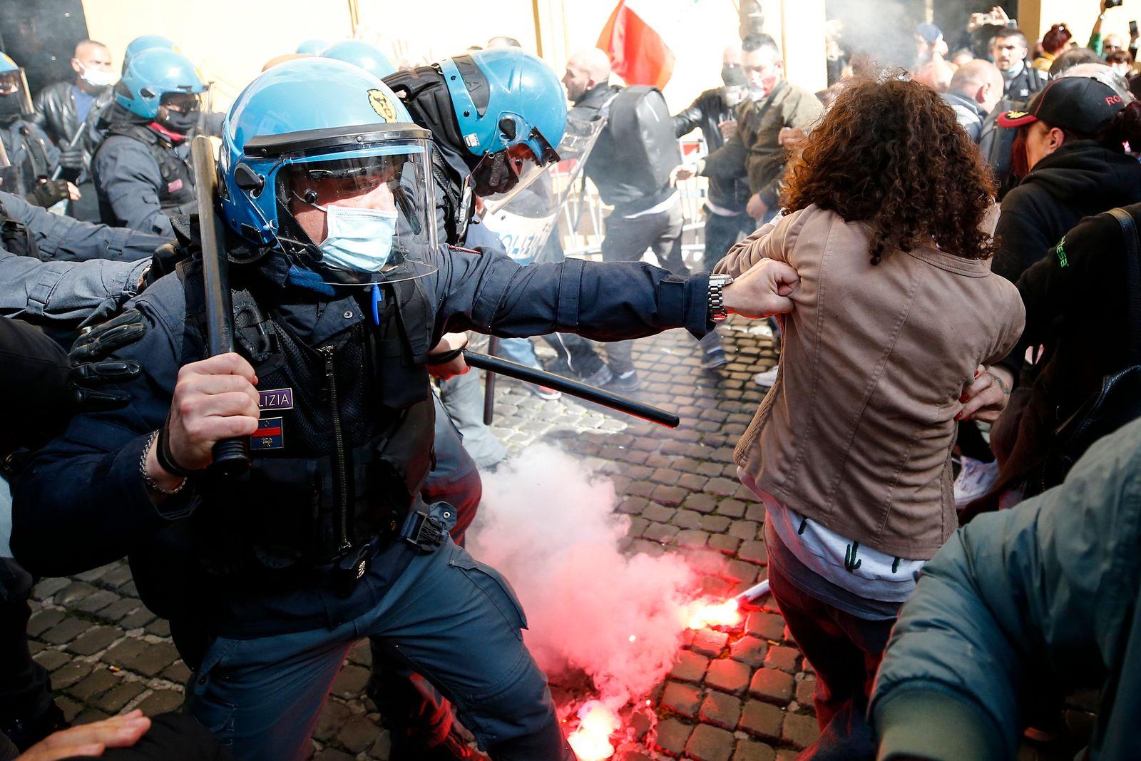 Coronavirus - Protest in Italien
