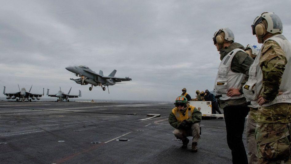 US-Flugzeugträger auf dem Weg nach Norwegen