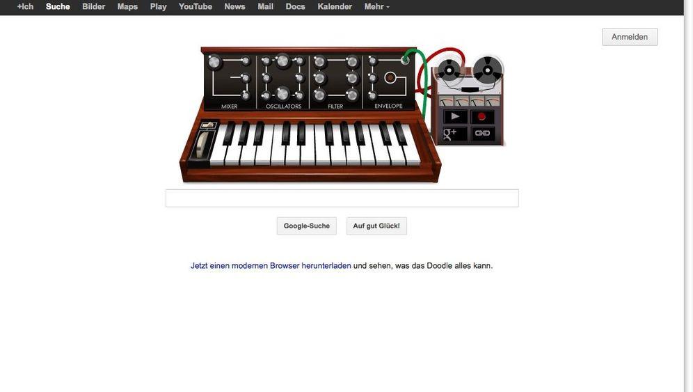 Google Doodle: Robert Moog und seine Synthesizer