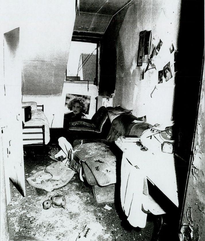 Yeboahs Zimmer nach dem Anschlag