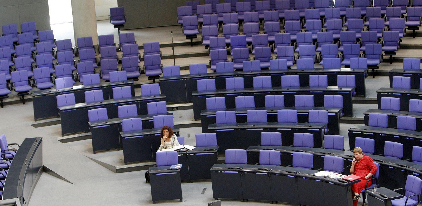Bundestag / Leere Sitze