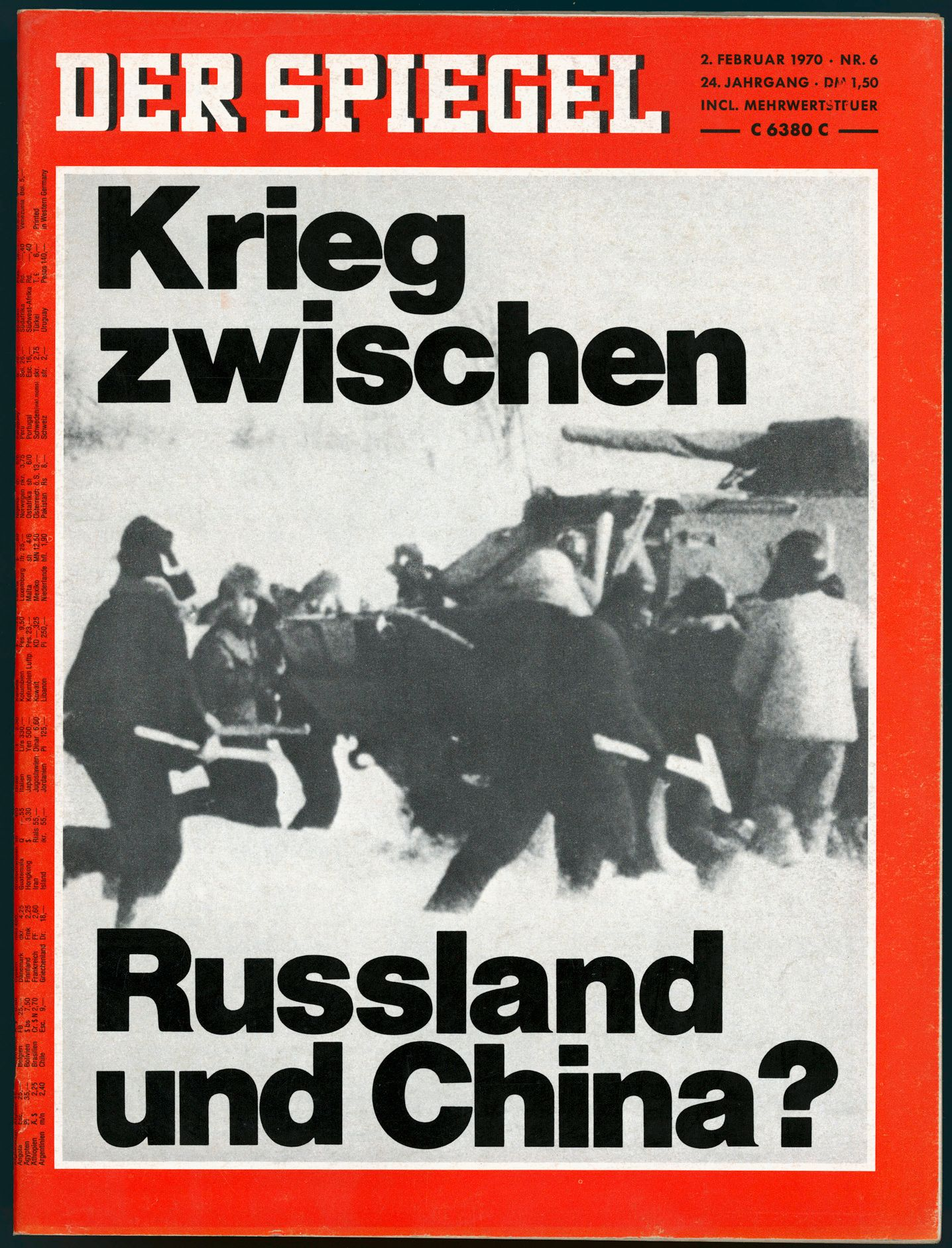 SPIEGEL-Titel 06/1970