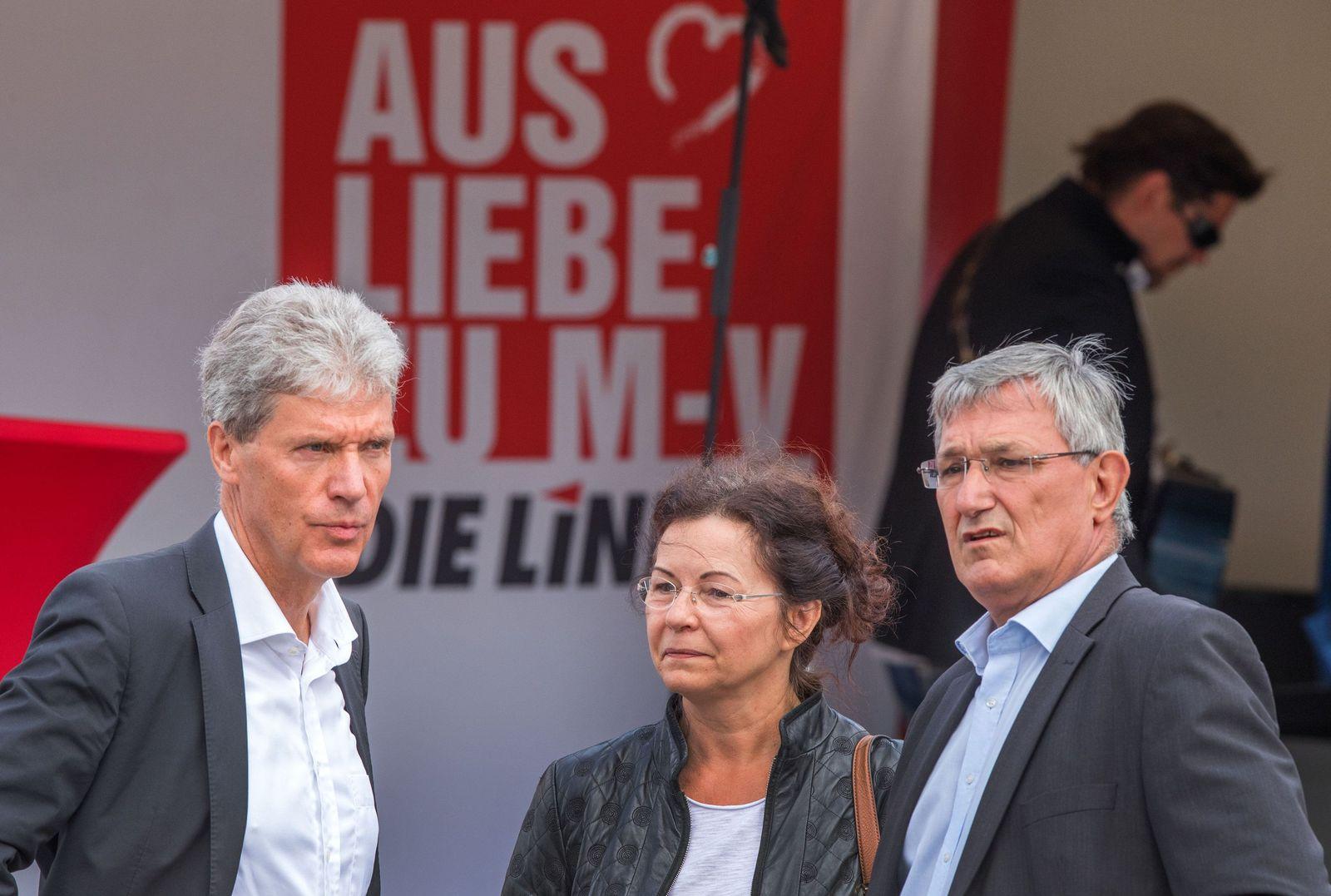 Wahlkampfauftakt Die Linke in Schwerin