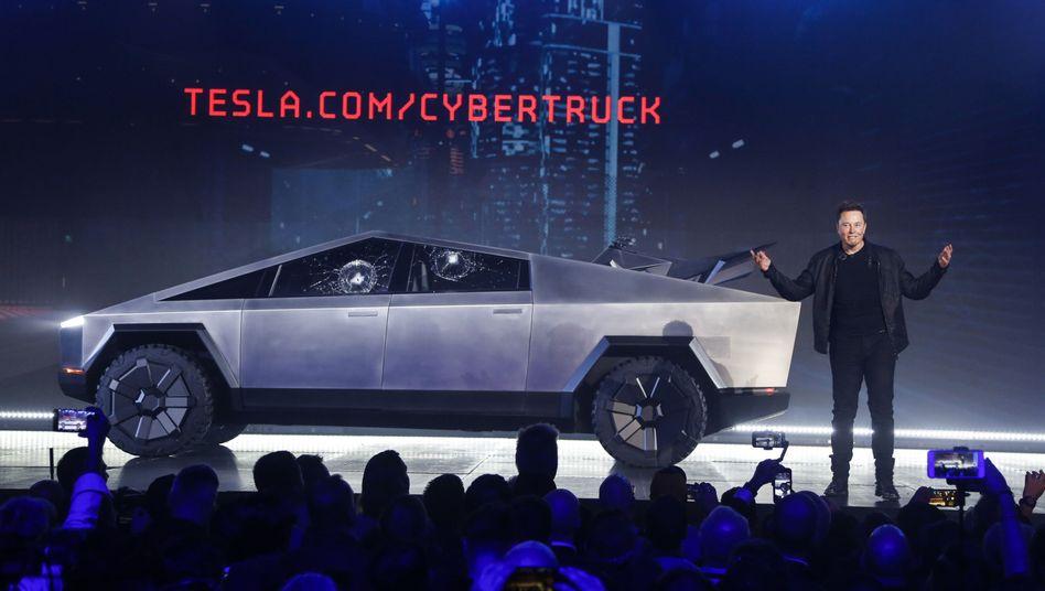 Elon Musk bei seiner Cybertruck-Präsentation