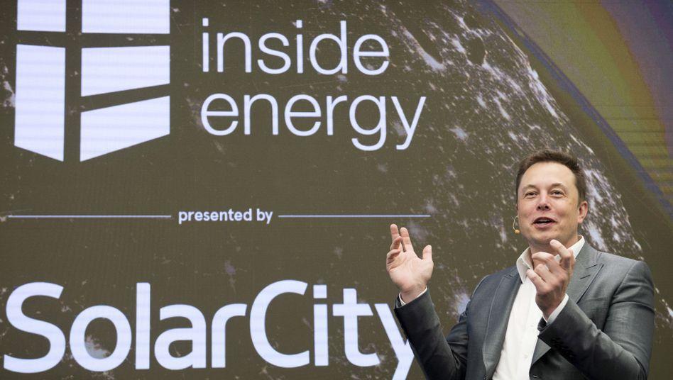 Elon Musk, Tesla-Chef und Verwaltungsratschef von SolarCity