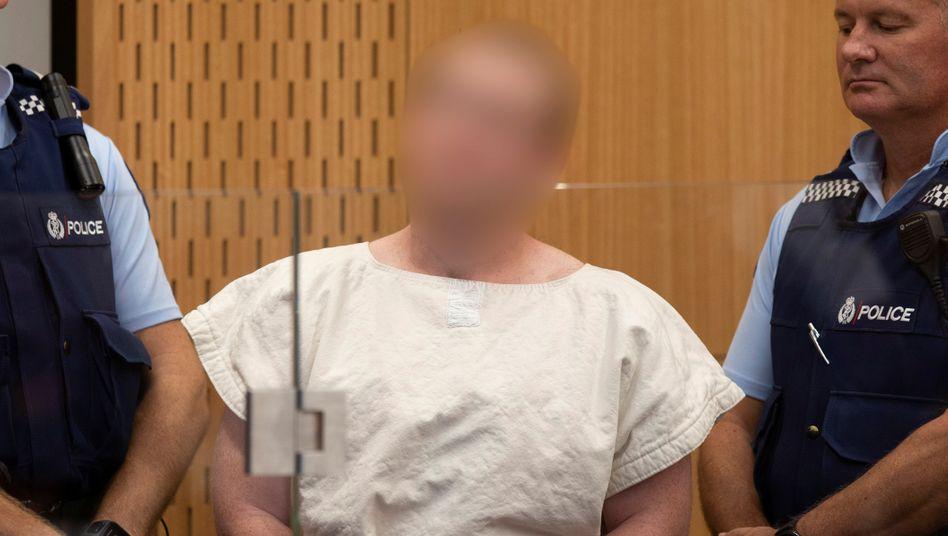 Mutmaßlicher Christchurch-Attentäter vor Gericht (März 2019)
