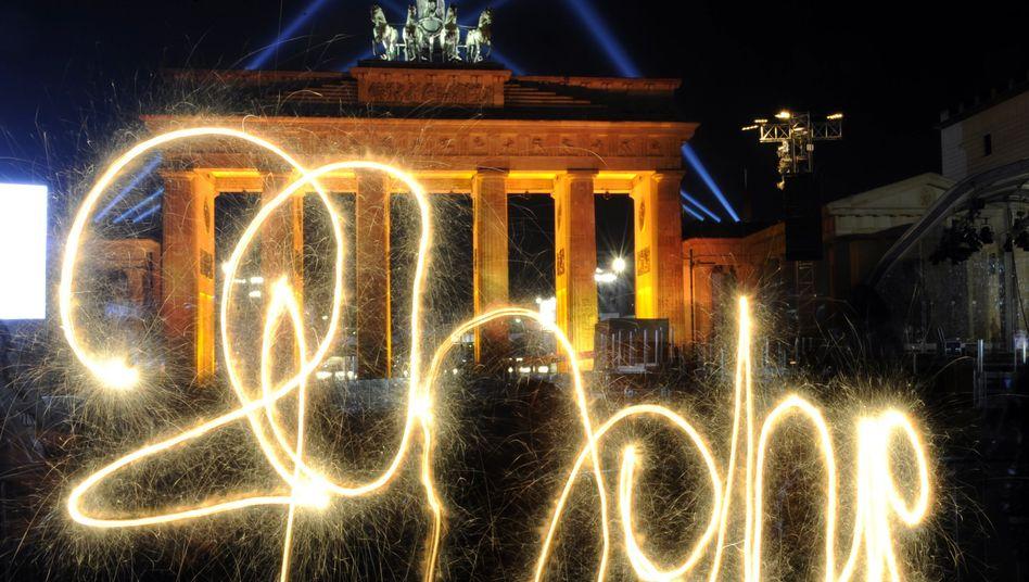 Fest zum Fall der Mauer: Die meisten Deutschen sind zum Feiern aufgelegt
