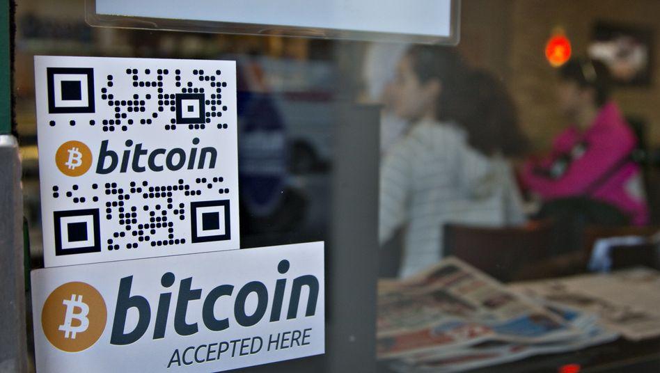 Café im kanadischen Vancouver, das die Zahlung mit Bitcoin akzeptiert (Archivbild)