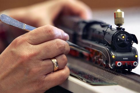 Märklin has a reputation for using authentic materials for its scale-model trains.