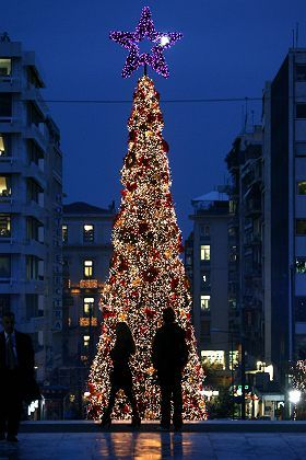 Christmas in Greece looks a little different.