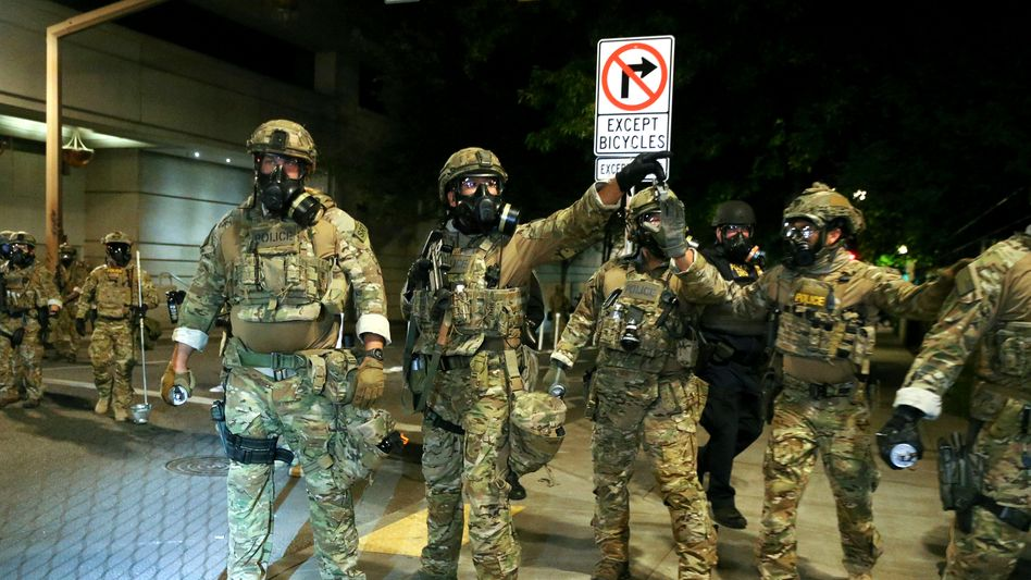 Einsatzkräfte des Bundes in Portland: Gegen den Willen von Stadt und Bundesstaat im Einsatz