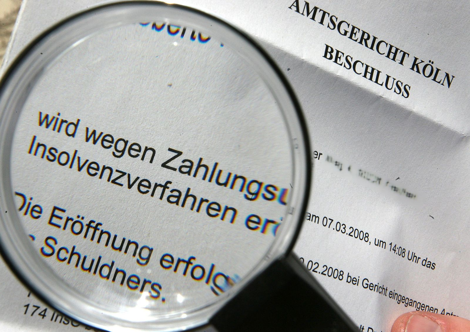 KaSP Gericht Insolvenz SYMBOLBILD