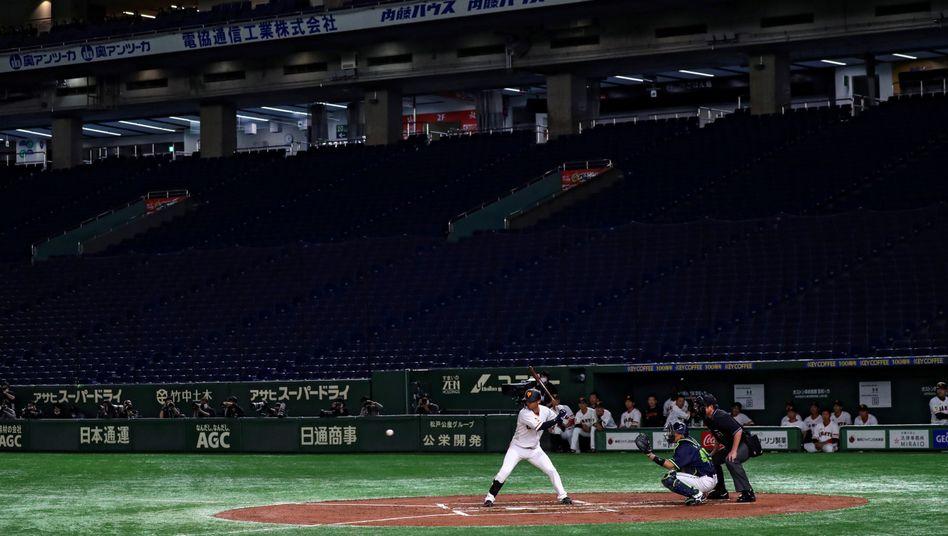 Immerhin gibt es im US-Baseball derzeit keine Zuschauer