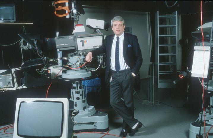 Hans Meiser in den Räumen seiner 1992 gegründeten Produktionsfirma CreaTV