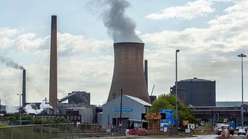 Stahlwerk von British Steel in Scunthorpe