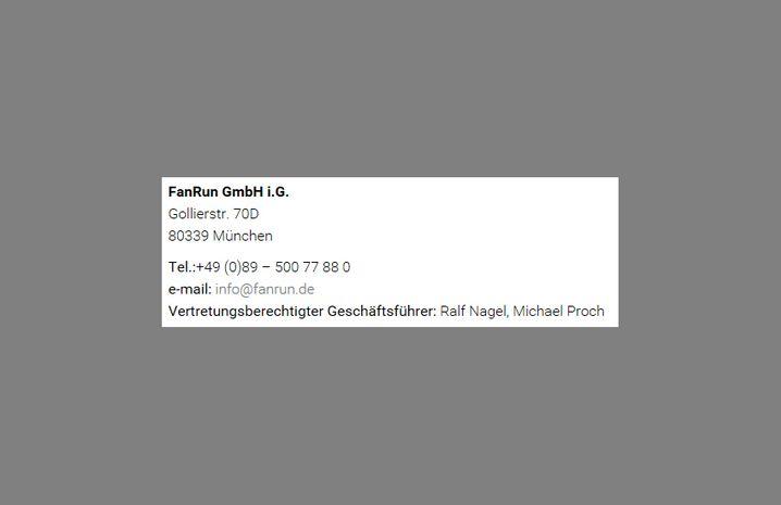 Nachher: FanRun GmbH i.G.