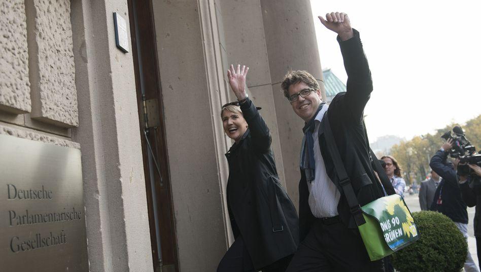 Grüne Simone Peter und Michael Kellner