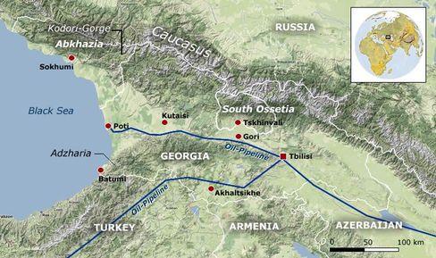 The Caucasus region.
