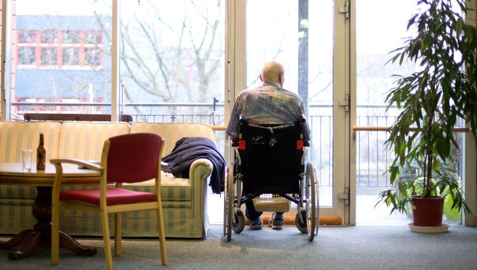 Bewohner eines Seniorenwohnheims