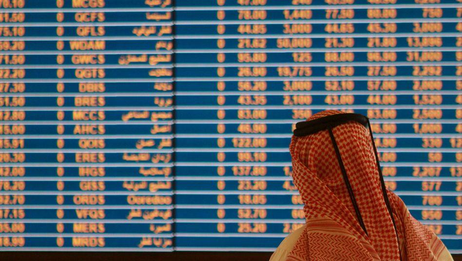 Händler an Börse von Doha (im Mai): Milliardenwerte verschwunden