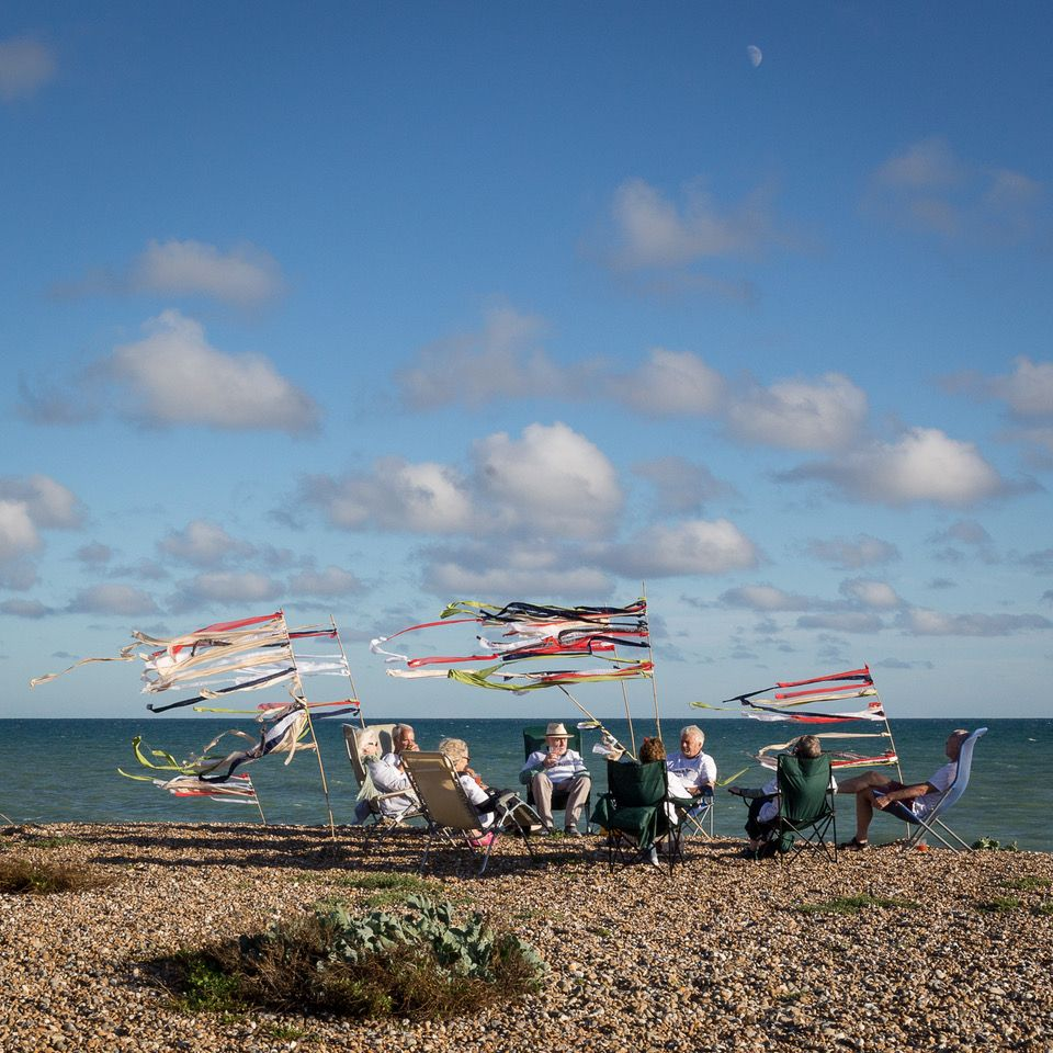 Drinks on the shore, Ferring, Sussex