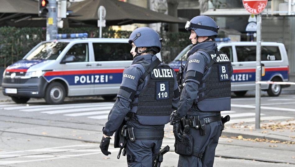 Polizisten in der Wiener Innenstadt