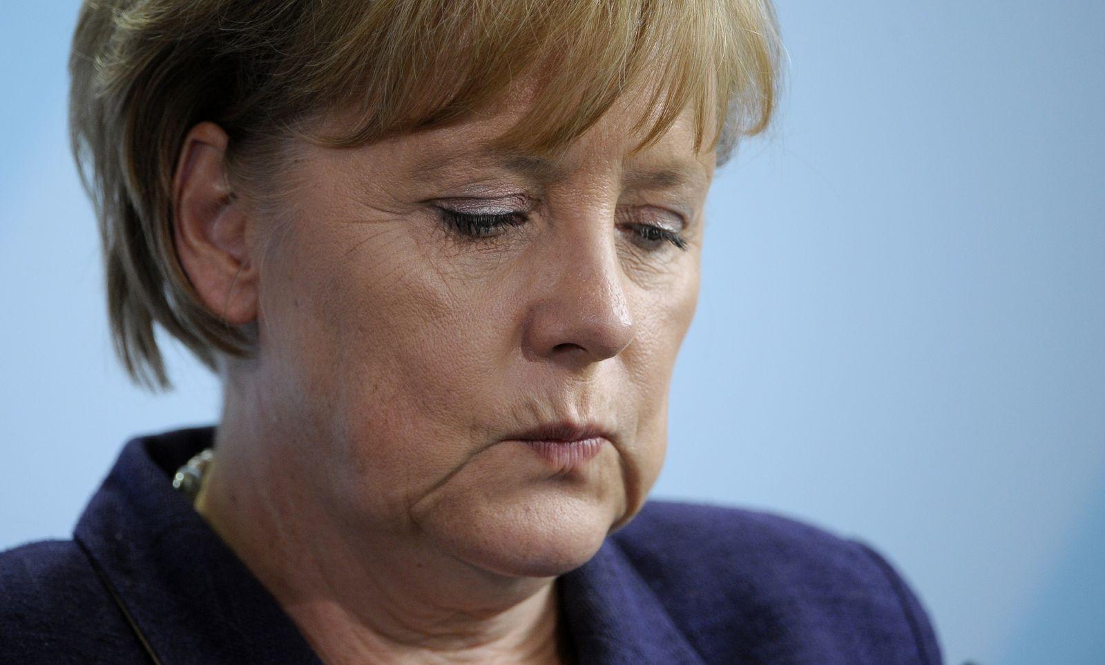 NICHT VERWENDEN Merkel deprimiert
